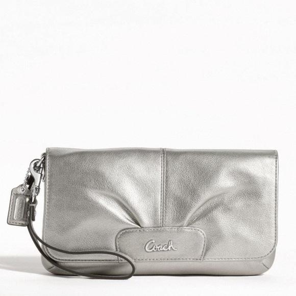 Coach Handbags - NWT Coach Leather Large Flap Wristlet